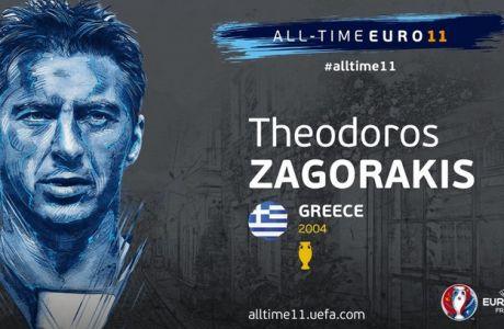 Δέλλας, Ζαγοράκης, Χαριστέας για την καλύτερη 11άδα των Euro όλων των εποχών