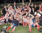 Οι παίκτες της Ατλέτικο με το Copa del Rey του 1996.