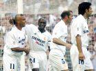 """Ρονάλντο, Μακελελέ, Ζιντάν και Φίγκο στο """"Μπερναμπέου"""" (22/6/2003)."""