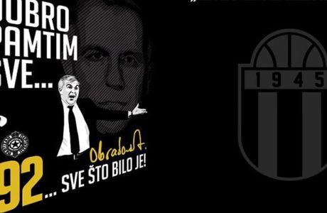 Μπλούζα ΕΠΟΣ για Ομπράντοβιτς από την Παρτίζαν