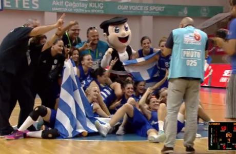 Ελλαδάρα! Χρυσό η Εθνική Κωφών Γυναικών στο μπάσκετ