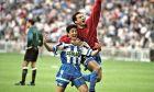 Μπεμπέτο και Μανχαρίν πανηγυρίζουν την κατάκτηση του Κυπέλλου Ισπανίας (27/6/1995)