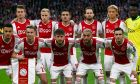 Ajax players pose before the Champions League semifinal second leg soccer match between Ajax and Tottenham Hotspur at the Johan Cruyff ArenA in Amsterdam, Netherlands, Wednesday, May 8, 2019. (AP Photo/Peter Dejong)