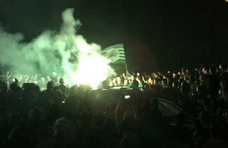 """Μεταμεσονύχτιο """"προσκύνημα"""" στο ΟΑΚΑ από χιλιάδες οπαδούς"""