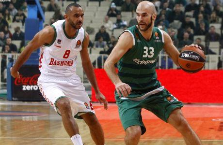 ÅÕÑÙËÉÃÊÁ / ÐÁÏ - ÌÐÁÓÊÏÍÉÁ / EUROLEAGUE / PANATHINAIKOS - BASKONIA (Eurokinissi Sports / ÈÁÍÁÓÇÓ ÄÇÌÏÐÏÕËÏÓ)