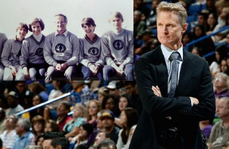 ONTARIO, CA - OCTOBER 12:  Golden State Warriors head coach Steve Kerr looks on during the game against the Los Angeles Lakers on October 12, 2012 at Citizens Business Bank Arena in Ontario, California. NOTE TO USER: User expressly acknowledges and agrees that, by downloading and/or using this Photograph, user is consenting to the terms and conditions of the Getty Images License Agreement. Mandatory Copyright Notice: Copyright 2014 NBAE (Photo by Noah Graham/NBAE via Getty Images)