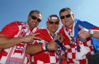 SAO PAULO, BRAZIL - JUNE 12: Croatia fans pose before the Opening Ceremony of the 2014 FIFA World Cup Brazil prior to the Group A match between Brazil and Croatia at Arena de Sao Paulo on June 12, 2014 in Sao Paulo, Brazil.  (Photo by Kevin Cox/Getty Images)