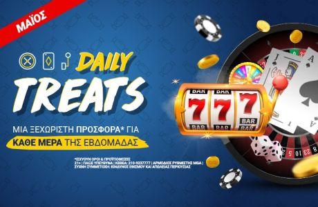 Daily Treats: Σούπερ προσφορές* στο Casino του Stoiximan.gr κάθε μέρα!