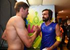 MANAUS, BRAZIL - JUNE 14:  Steven Gerrard of England (L) congratualates Andrea Pirlo of Italy after the 2014 FIFA World Cup Brazil Group D match between England and Italy at Arena Amazonia on June 14, 2014 in Manaus, Brazil.  (Photo by Stuart Franklin - FIFA/FIFA via Getty Images)