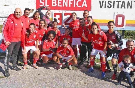 Η γυναικεία ομάδα της Μπενφίκα σκοράρει 18.3 γκολ ανά 90 λεπτά!