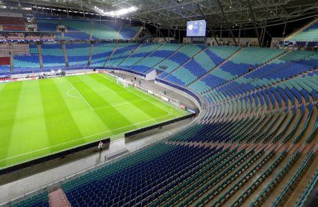 Το γήπεδο της Τότεναμ πριν από τη διεξαγωγή της αναμέτρηση της με τη Λειψία για το Champions League