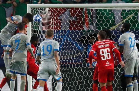 Ποδοσφαιριστές της Σάλκε σε στιγμιότυπο ευρωπαϊκής αναμέτρησης κόντρα στη Λοκομοτίβ Μόσχας (2018)