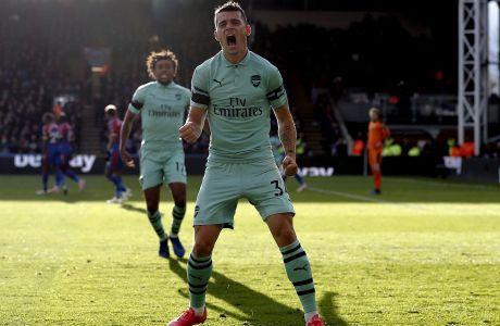 Ο Γκράνιτ Τζάκα της Άρσεναλ πανηγυρίζει γκολ που σημείωσε κόντρα στην Κρίσταλ Πάλας για την Premier League 2018-2019 στο 'Σέλχαρστ Παρκ', Λονδίνο, Κυριακή 28 Οκτωβρίου 2018