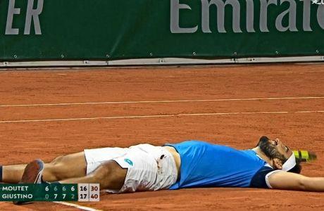 Ο Λορέντζο Τζουστίνο ήταν ο νικητής του δεύτερου μεγαλύτερου αγώνα στην ιστορία του Roland Garros και 4ου μεγαλύτερου, από καταβολής όλων των Grand Slam.