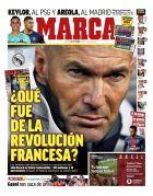 Το πρωτοσέλιδο της ισπανικής Marca στις 3 Σεπτεμβρίου 2019.