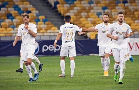Σκόρπιοι ποδοσφαιριστές της Κόλος στην αναμέτρηση με τη Σαχτάρ
