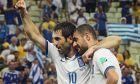 Ο Γιώργος Καραγκούνης και ο Γιάννης Μανιάτης στο Παγκόσμιο Κύπελλο του 2014
