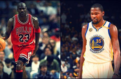 Ο Kevin Durant έπιασε τον Jordan!