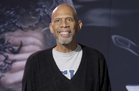 "Kareem Abdul-Jabbar arrives at the world premiere of ""Venom"" on Monday, Oct. 1, 2018, at the Regency Village Theater in Los Angeles. (Photo by Richard Shotwell/Invision/AP)"
