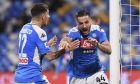 Ο Κώστας Μανωλάς της Νάπολι πανηγυρίζει γκολ που σημείωσε κόντρα στην Τορίνο για τη Serie A 2019-2020 στο 'Σαν Πάολο', Σάββατο 29 Φεβρουαρίου 2020