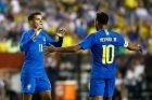 Κοουτίνιο και Νεϊμάρ με την Εθνική Βραζιλίας.