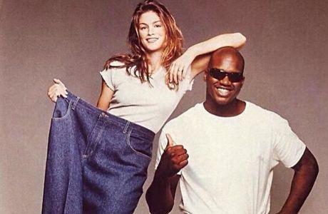 Η Σίντι Κρόφορντ σε φωτογράφιση με τον Σακιλ Ο' Νιλ για την προώθηση MTV Special εκπομπής