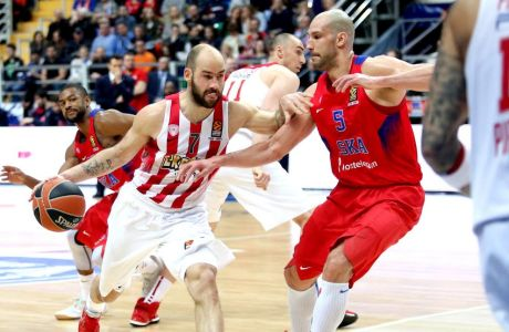 ÅÕÑÙËÉÃÊÁ / ÔÓÓÊÁ ÌÏÓ×ÁÓ - ÏÓÖÐ / EUROLEAGUE / CSKA MOSCOW - OLYMPIAKOS (Eurokinissi Sports)