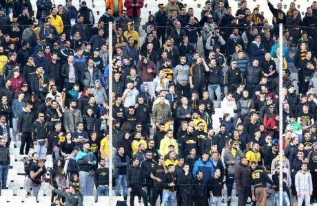 Χωρίς κόσμο η ΑΕΚ στην Τρίπολη