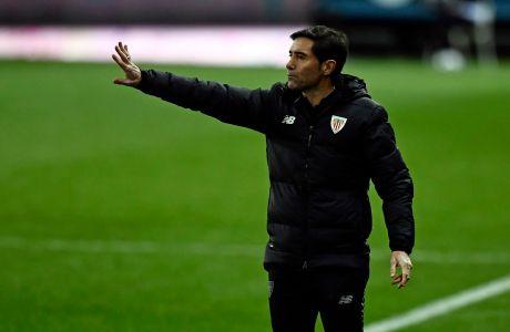 Ο προπονητής της Αθλέτικ, Μαρθελίνο, σε στιγμιότυπο κόντρα στη Ρεάλ για τον ημιτελικό του Supercopa 2020 στο 'Ροσαλέδα', Μάλαγα | Πέμπτη 14 Ιανουαρίου 2021