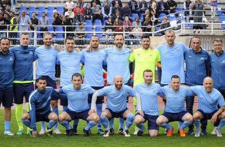 Οι Legends 2004 σε φιλικό αγώνα με αντίπαλο τους All Stars Μονακό στη Λευκάδα, Δευτέρα 3 Ιουνίου 2019