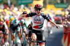 Ο Νταν Μάρτιν στο Tour de France του 2018.