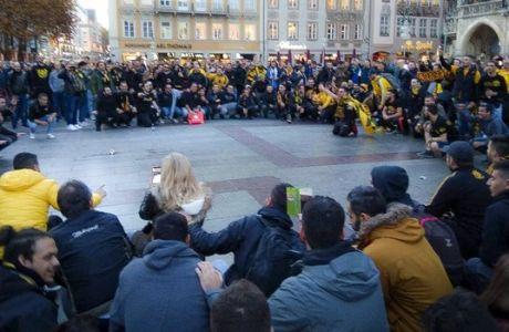 Οι Γερμανοί τραγουδούν τον ύμνο της ΑΕΚ και μιλούν ελληνικά