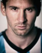 BELO HORIZONTE, BRAZIL - JUNE 10:  (EDITOR'S NOTE: Image was processed using digital filters.) Lionel Messi of Argentina poses during the official FIFA World Cup 2014 portrait session on June 10, 2014  in Belo Horizonte, Brazil.  (Photo by Ryan Pierse - FIFA/FIFA via Getty Images)