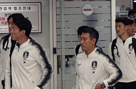 Οι Νοτιοκορεάτες διεθνείς ποδοσφαιριστές έχουν μόλις επιστρέψει από τη Βόρεια Κορέα