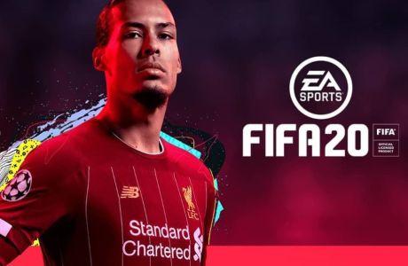 Το εξώφυλλο του FIFA 20 με εικονιζόμενο τον Βέρτζιλ Βαν Νταικ της Λίβερπουλ