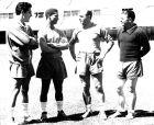 """Η Ρεάλ Μαδρίτης είναι η ομάδα με τα περισσότερα πρωταθλήματα (33) στην ιστορία της Primera División. Εδώ τέσσερις μεγάλες δόξες των """"μερένγκες"""" το 1959. Από αριστερά, Έκτορ Ριάλ, Ντιντί, Αλφρέδο Ντι Στέφανο και Φέρεντς Πούσκας."""