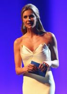 SAO PAULO, BRAZIL - JUNE 10:  MC Fernanda Lima speaks during the Opening Ceremony of the 64th FIFA Congress at the Transamerica Expo Center on June 10, 2014 in Sao Paulo, Brazil.  (Photo by Alexander Hassenstein - FIFA/FIFA via Getty Images)