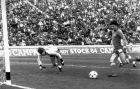 Ο Πάολο Ρόσι σκοράρει εναντίον της Ουγγαρίας το 1978. Στο Μουντιάλ αυτό είχε πετύχει 3 γκολ. Συνολικά, στα Παγκόσμια Κύπελλα μετράει 9 γκολ και είναι ο 1ος σκόρερ της Ιταλίας μαζί τον Ρομπέρτο Μπάτζιο και τον Κριστιάν Βιέρι