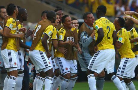 Ο πανηγυρισμός των Κολομβιανών (VIDEO)