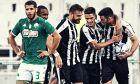 Ο Δημήτρης Μάνος πανηγυρίζει το δεύτερο προσωπικό του τέρμα, στη μεγάλη νίκη του ΟΦΗ στο ΟΑΚΑ επί του Παναθηναϊκού (1-3), για την 2η αγωνιστική της Super League 1