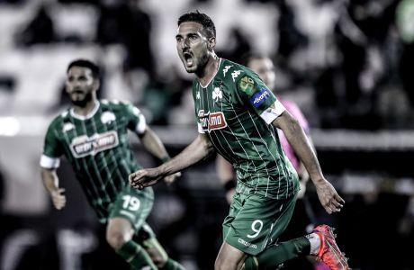 Ο Φεντερίκο Μακέντα του Παναθηναϊκού πανηγυρίζει γκολ που σημείωσε κόντρα στον ΠΑΟΚ για τη Super League Interwetten 2020-2021 στο 'Απόστολος Νικολαΐδης' | Κυριακή 14 Μαρτίου 2021