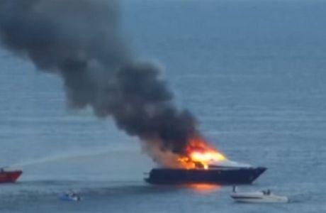 Σώθηκε από φλεγόμενο σκάφος ο πρόεδρος της Νάπολι