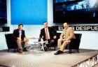 """Οι συντελεστές της ιστορικής εκπομπής του Canal+, """"El día después"""". Από αριστερά, Λόμπο Καράσκο, Μάικλ Ρόμπινσον και Χοακίν Ράμος Μάρκος."""