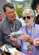 MONTE-CARLO, MONACO - MAY 25:  George Lucas onboard the Red Bull Energy Station during the Monaco Formula One Grand Prix at Circuit de Monaco on May 25, 2014 in Monte-Carlo, Monaco.  (Photo by Gareth Cattermole/Getty Images) *** Local Caption *** George Lucas
