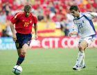 Με αντίπαλο τον Κατσουράνη στο ματς της Ελλάδας με την Ισπανία στο EURO του 2004.