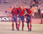 Ρονάλντο, Ζιοβάνι και Γουαρδιόλα σε παιχνίδι της Μπαρτσελόνα τη σεζόν 1996/97.