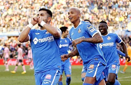 Οι παίκτες της Χετάφε πανηγυρίζουν το γκολ της ομάδας τους εναντίον της Μπέτις (26/1/2020)