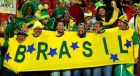 during the 2010 FIFA World Cup South Africa Round of Sixteen match between Brazil and Chile at Ellis Park Stadium on June 28, 2010 in Johannesburg, South Africa.