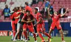 Οι παίκτες της Μπάγερν πανηγυρίζουν την κατάκτηση του Champions League 2019-2020 ύστερα από τον τελικό με την Παρί στο 'Λουζ' της Λισαβόνας | Κυριακή 23 Αυγούστου 2020