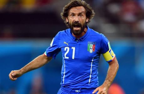 MANAUS, BRAZIL - JUNE 14:  Andrea Pirlo of Italy in action during the 2014 FIFA World Cup Brazil Group D match between England and Italy at Arena Amazonia on June 14, 2014 in Manaus, Brazil.  (Photo by Stuart Franklin - FIFA/FIFA via Getty Images)
